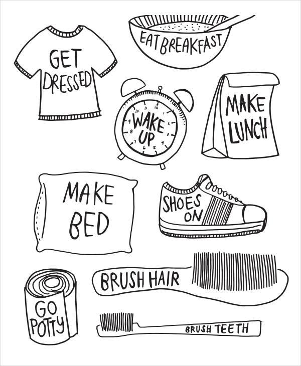morning chore example