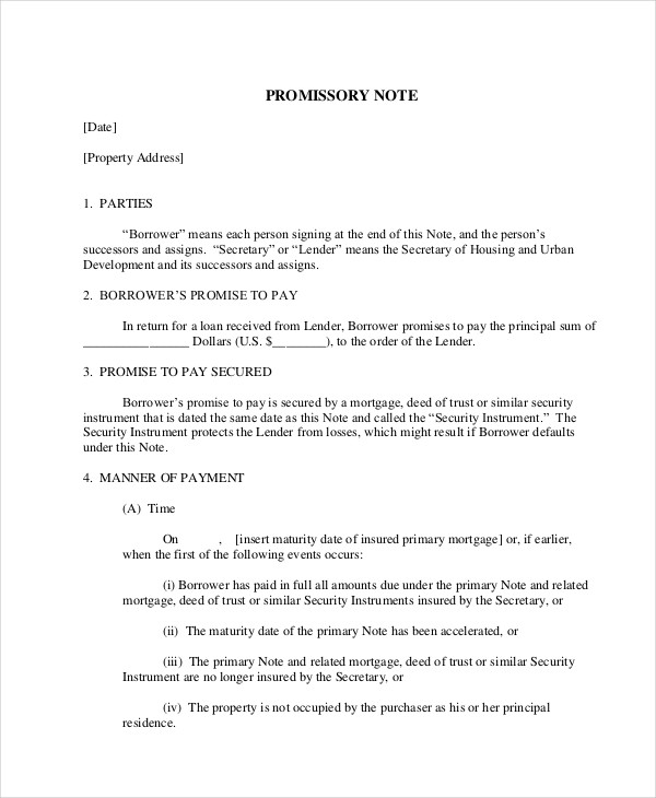 mortgage promissory note2