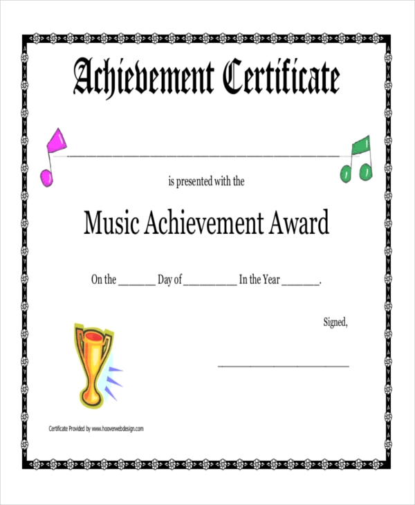 48 examples of certificates in pdf music award certificate yadclub Choice Image