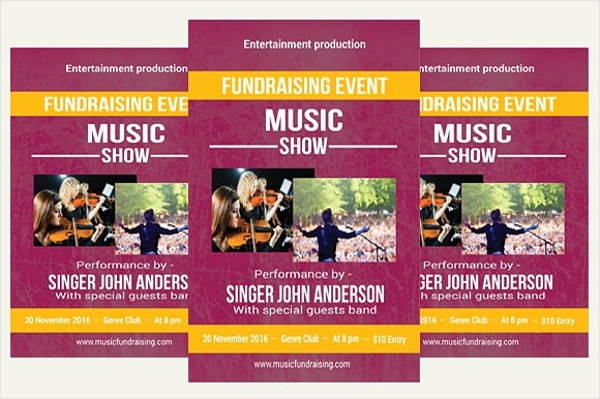music fundraising flyer