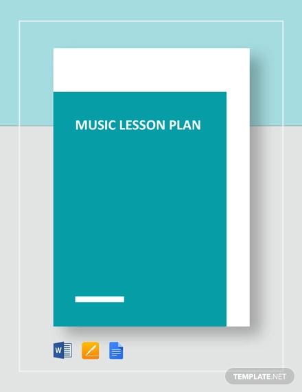 music lesson plan