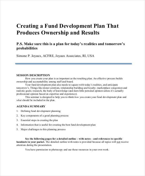 non profit development