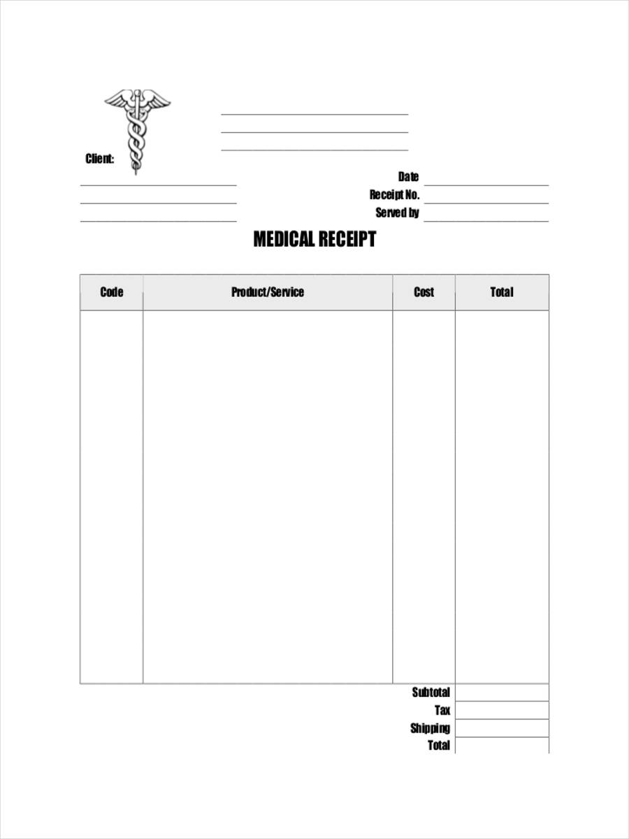 official medical receipt1