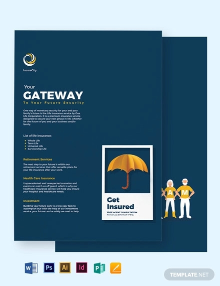 one page company profile brochure template