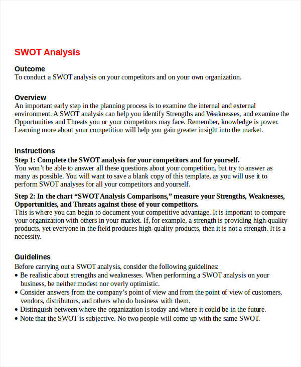 organizational behavior swot