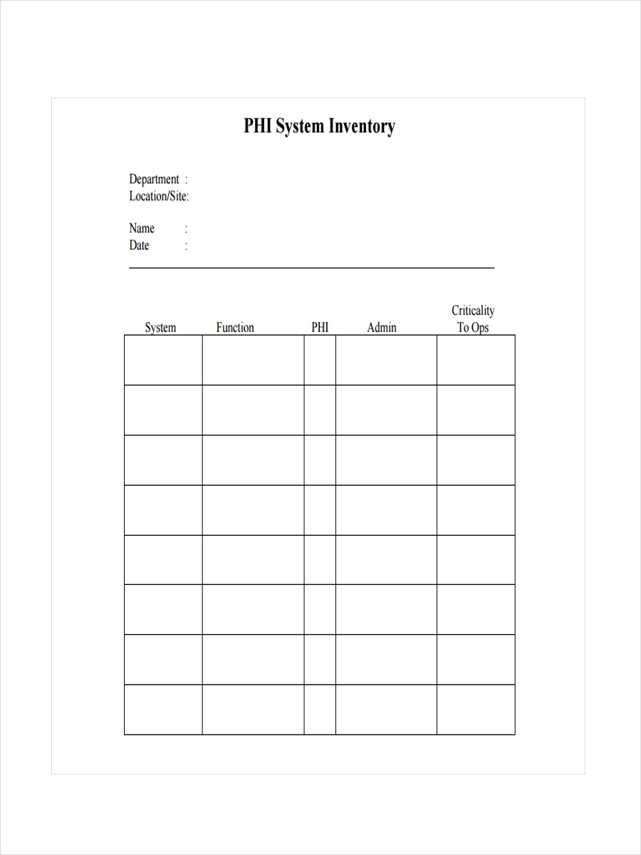 phi system inventory1