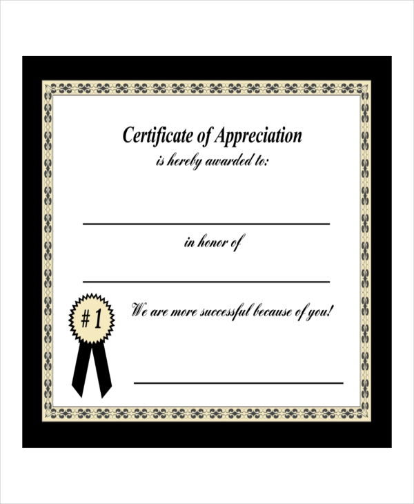 parent appreciation certificate