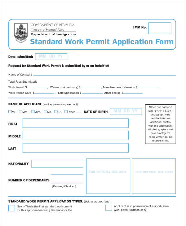 permit application