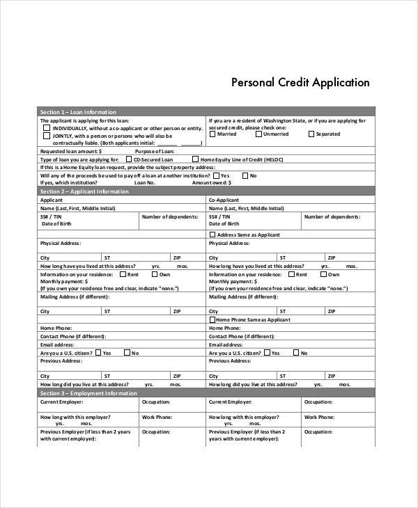 personal credit