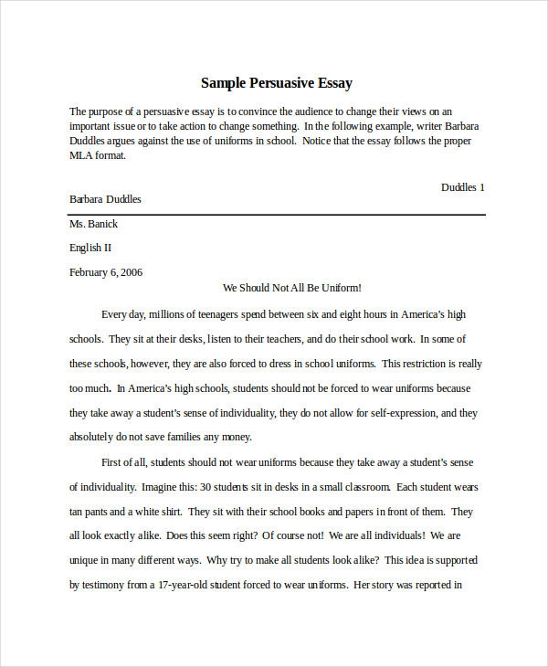 essay in doc persuasive example