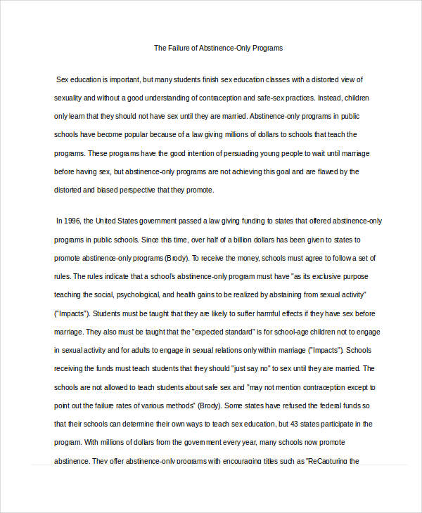 Argumentative Essay Samples Pdf