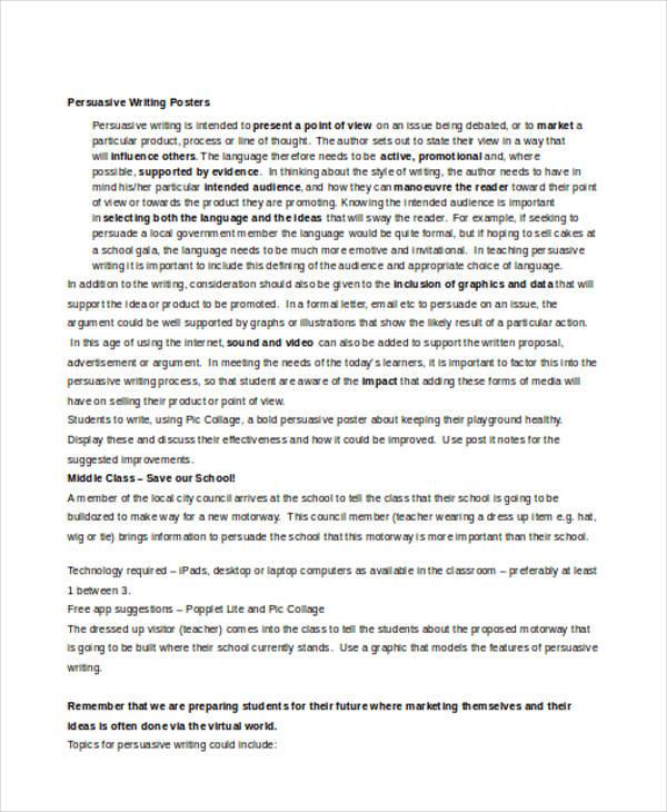persuasive writing posters1