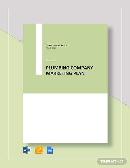 plumbing company marketing plan template