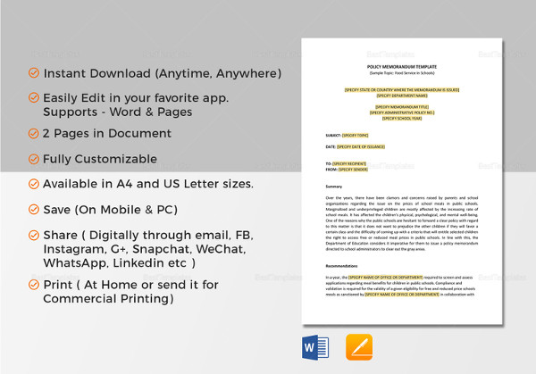 Policy Memo Template. Download  Download Memo Template
