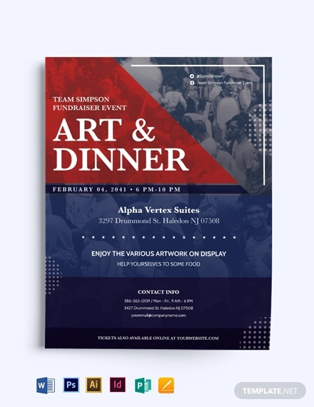 Fundraiser Flyer Designs Examples In