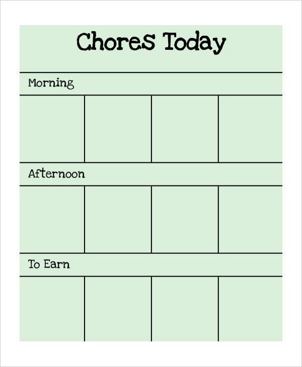 preschool chore