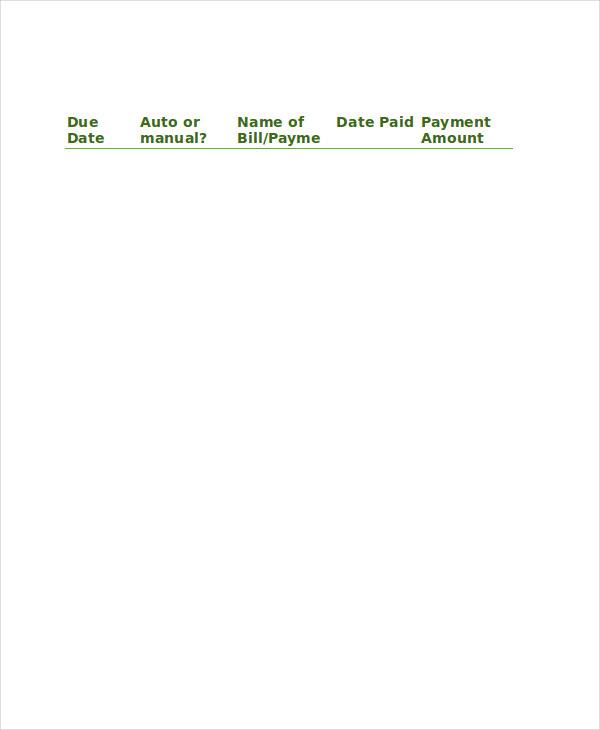 printable bill checklist2