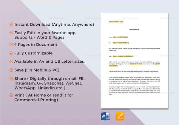 17 business memo examples samples pdf doc printable business memo template accmission Image collections