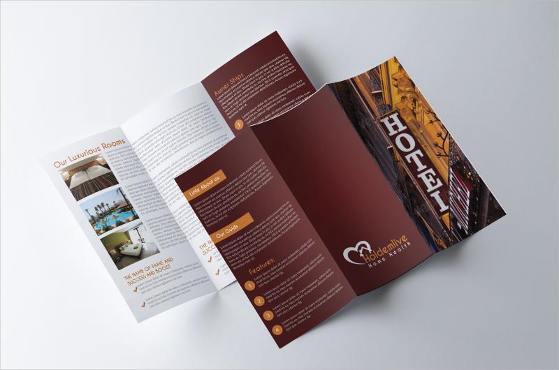 printable hotel trifold brochure