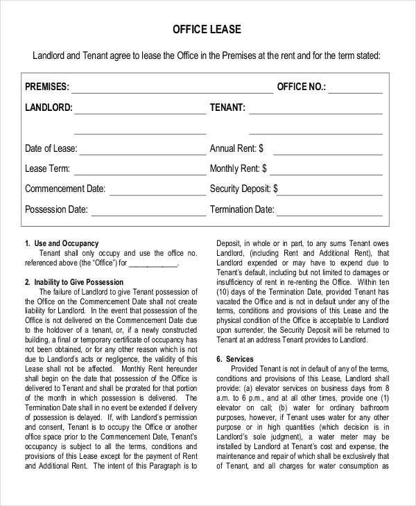 printable lease