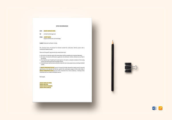 printable office memo template