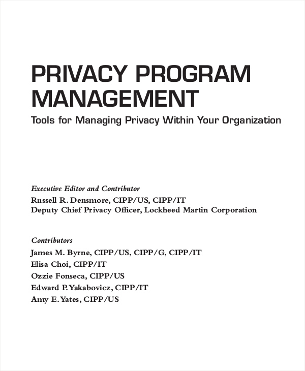 privacy program management