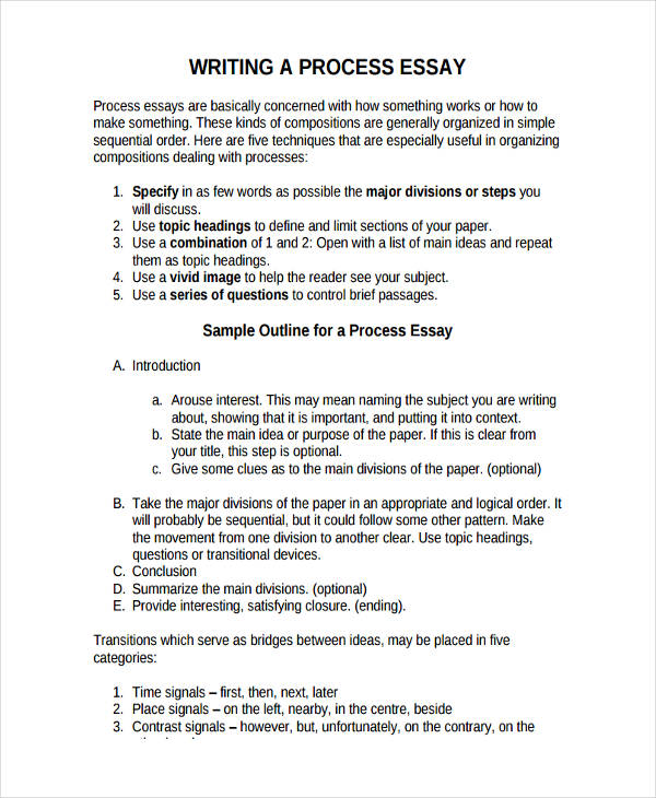 process essay outline example co process essay outline example