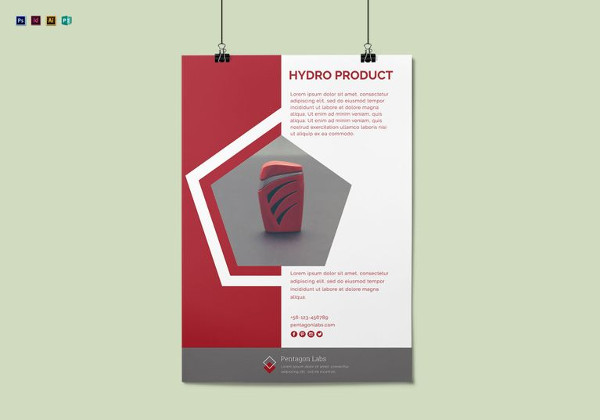 product advertisement poster template