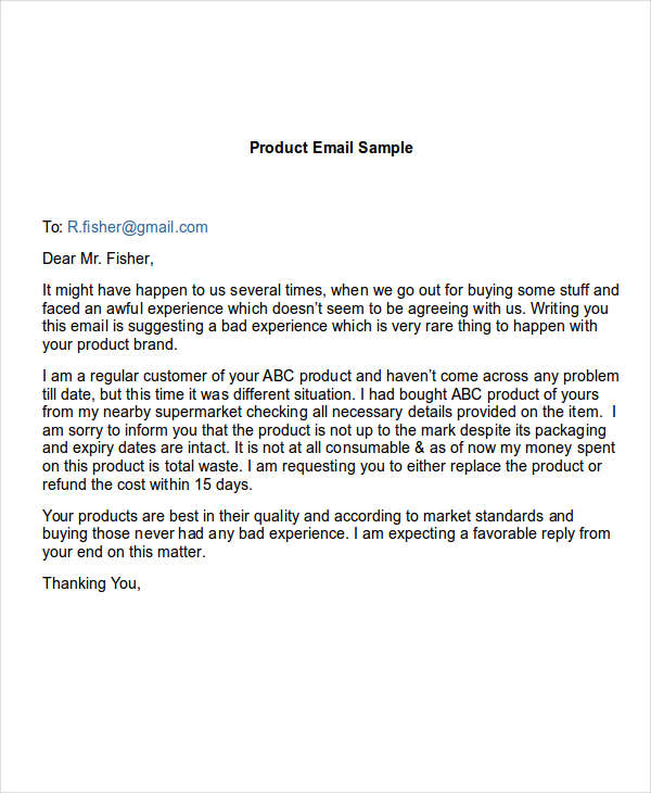 5 complaint email examples samples doc spiritdancerdesigns Image collections