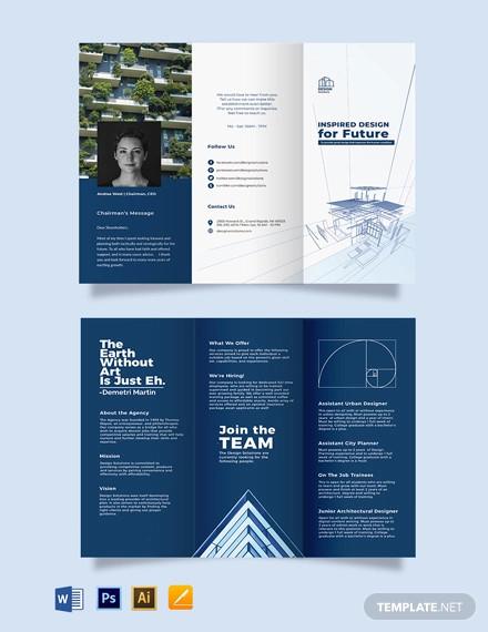 professional company profile tri fold brochure template1