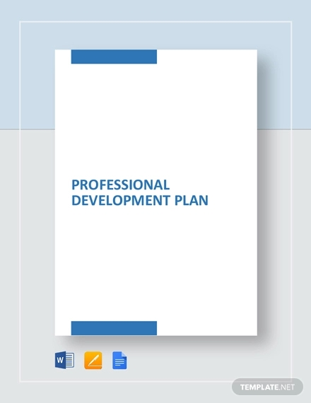 professional development plan example