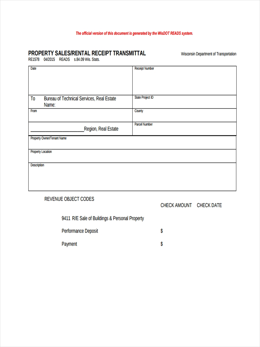 property rental receipt1