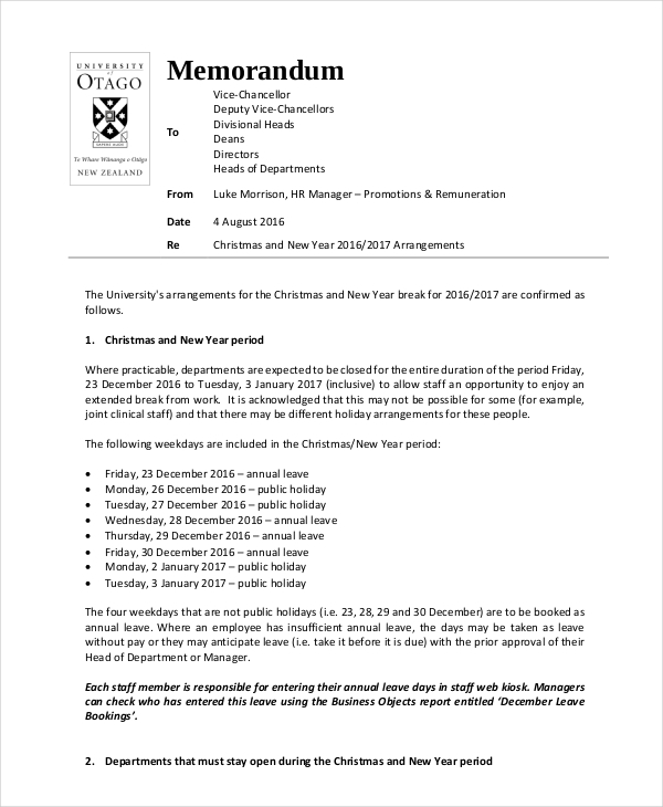 Sample Of Announcement Memo Audit Memo Template  Free Word Excel