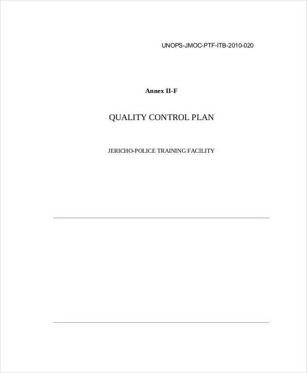 quality control plan1