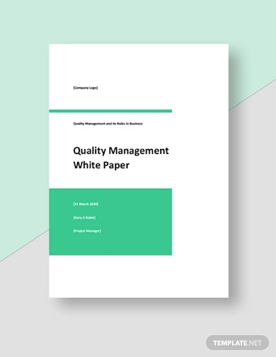 quality management white paper template