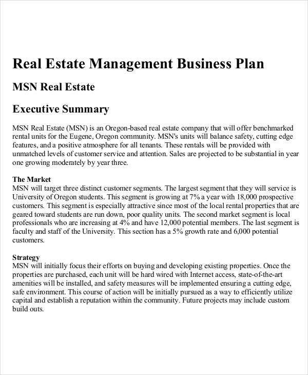 Business Plan Examples In Pdf