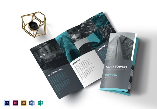 Real Estate Brochure Designs Examples PSD AI Vector EPS - Real estate brochure templates