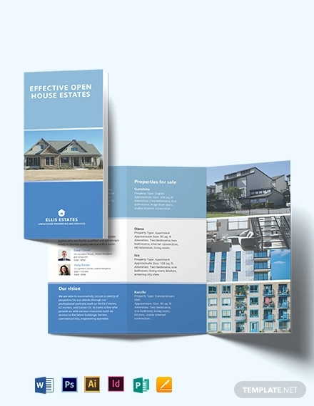 realestate community tri fold brochure template