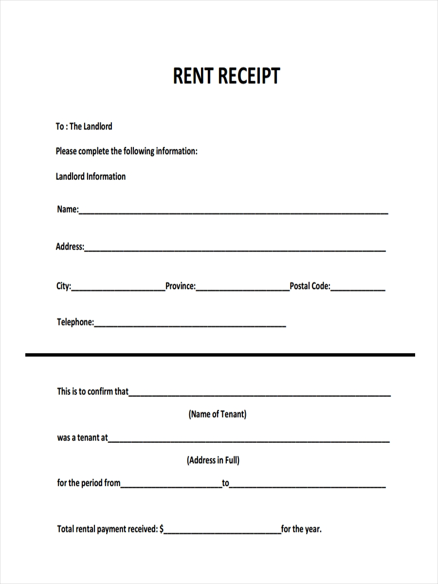 26 Examples of Receipts in PDF – Room Rental Receipt