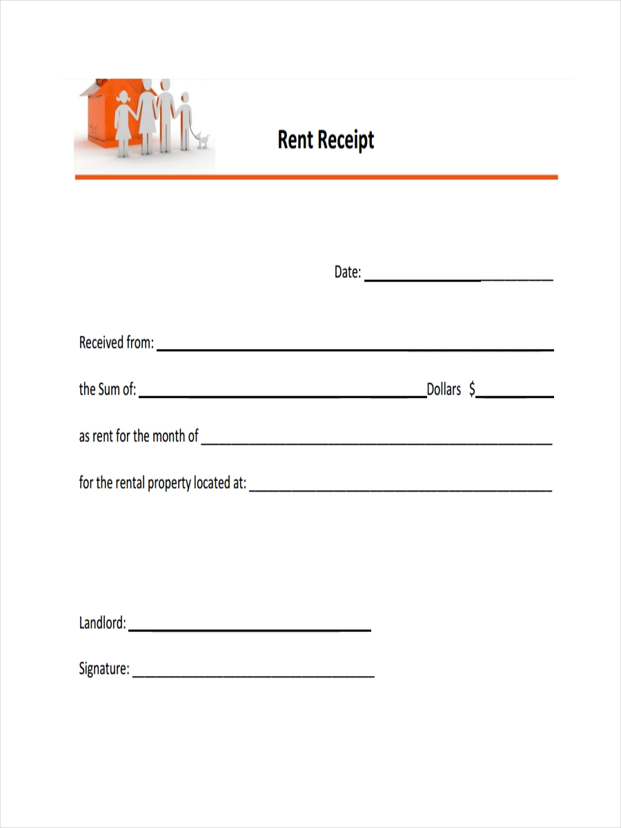 Receipt For Rent Sample