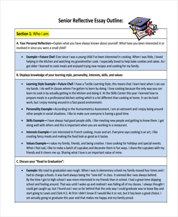 Reflective Essay Examples Samples