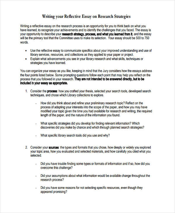 reflective essay writing - Essay Formats
