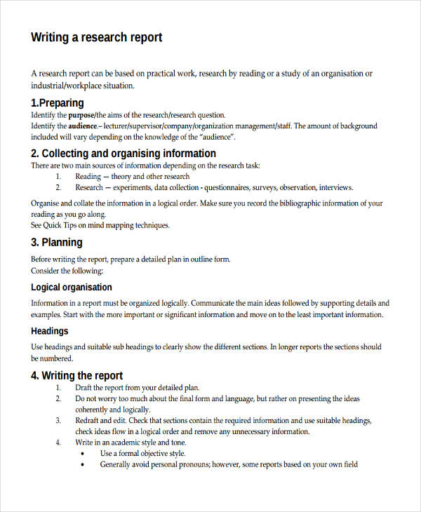10 report writing examples pdf