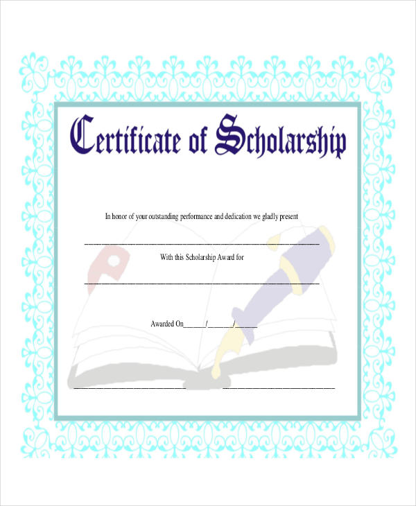 27 award certificate examples samples research scholarship award certificate yadclub Choice Image