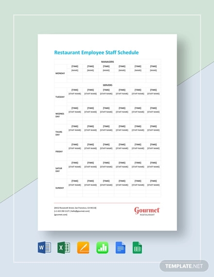 restaurant employee staff schedule1