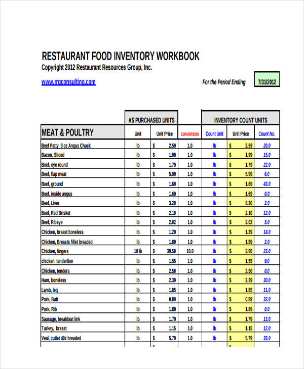 restaurant food inventory1