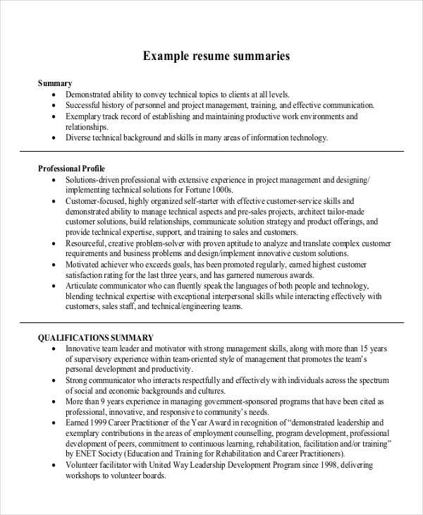 10 Summary Writing Examples And Samples Pdf Doc