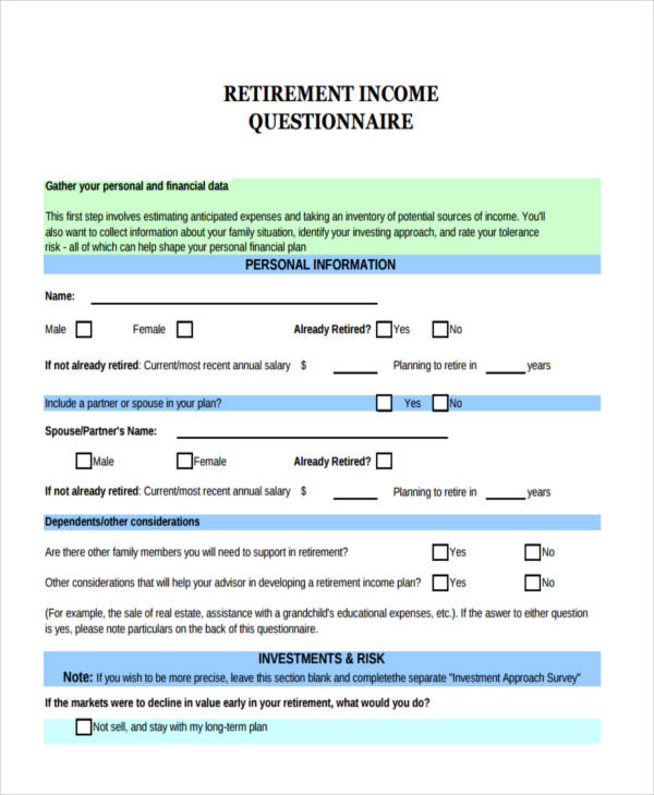 retirement income example