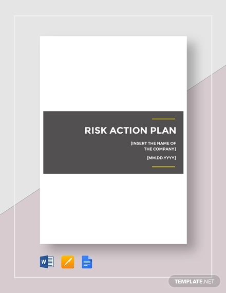 risk action plan example