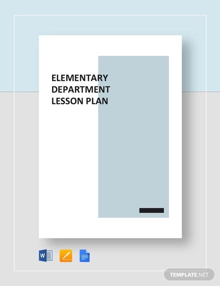 sample elementary lesson plan